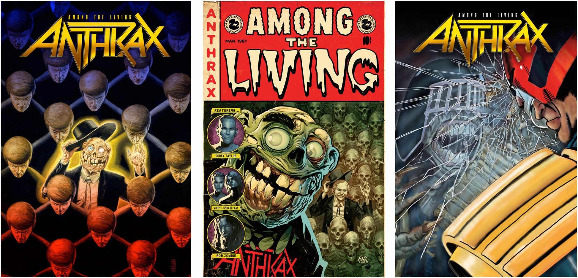 """ANTHRAX lanzará el cómic """"Among The Living"""" » Klandestine"""